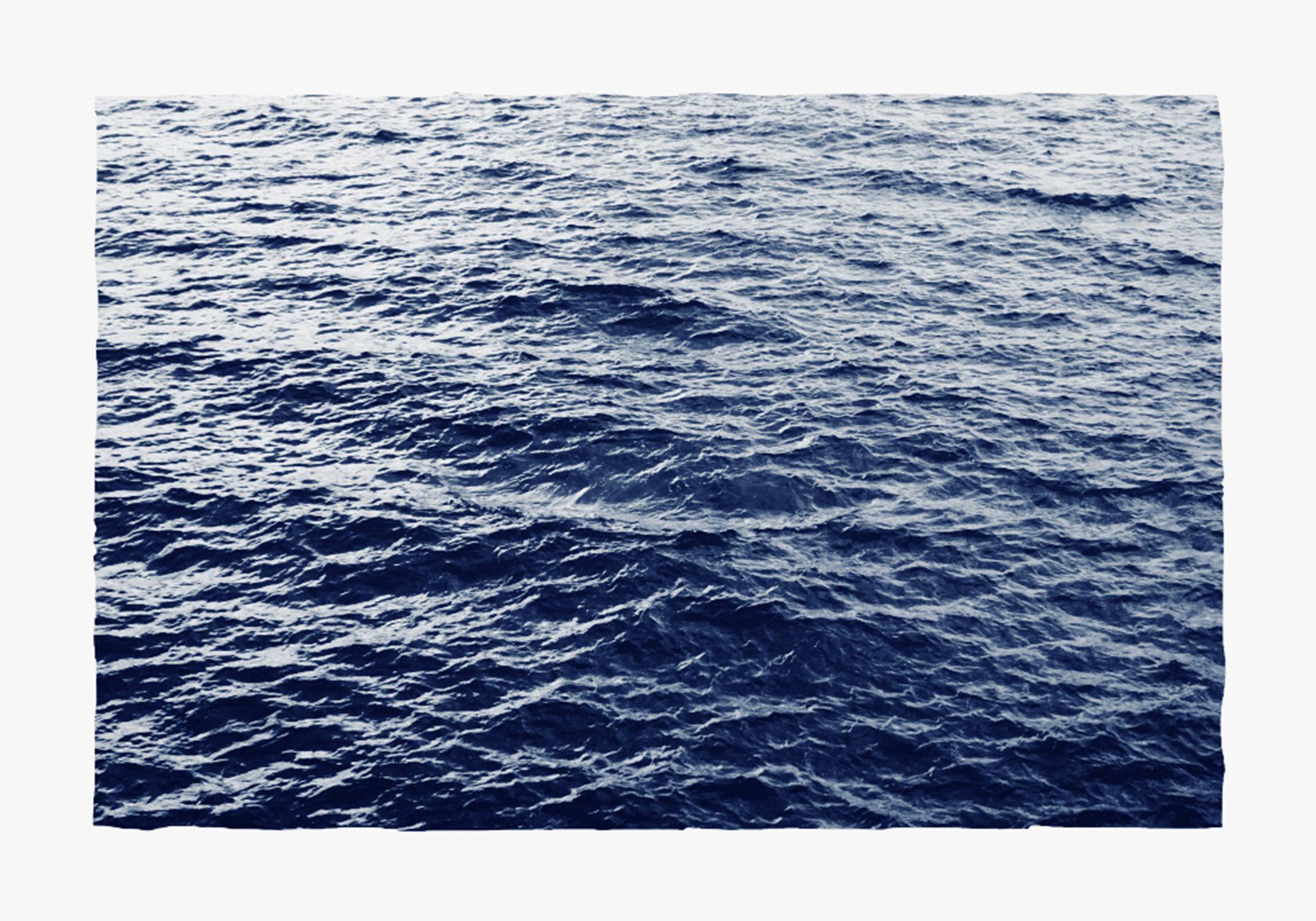 Boundless Ocean Waves, Handmade Classic Blue Sunprint, Limited Edition of 50
