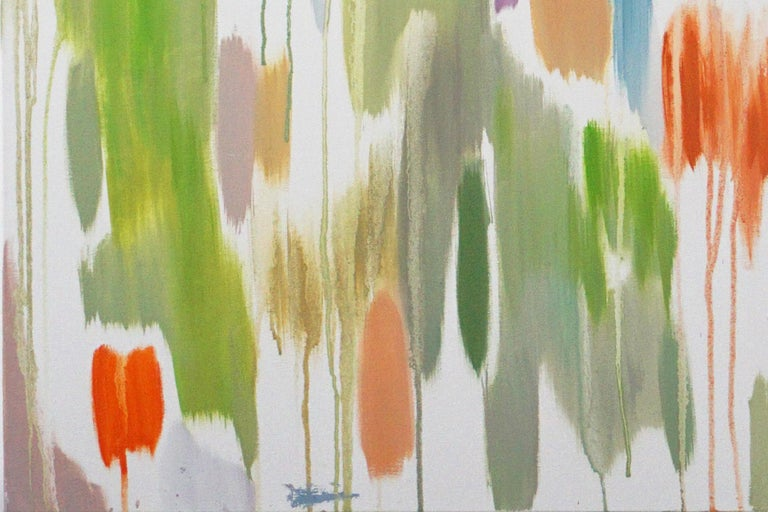 Tropical Vines Palette, Oil on Canvas 120x90cm Abstract Oil Painting Fresh Tones For Sale 3