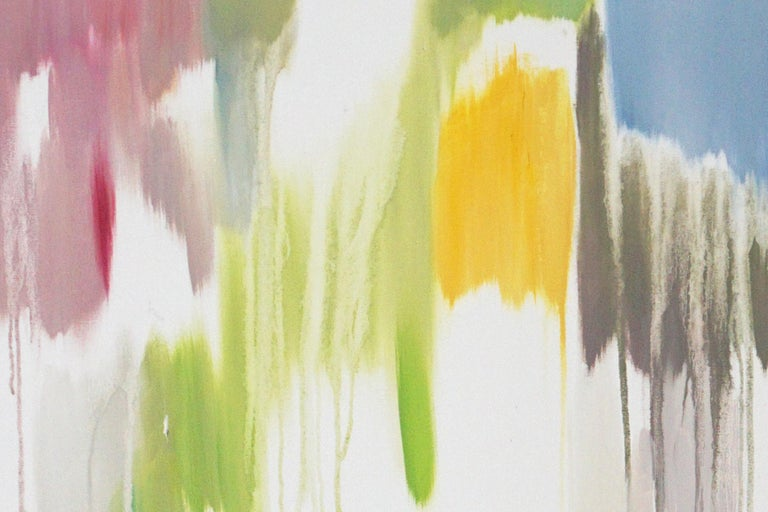 Tropical Vines Palette, Oil on Canvas 120x90cm Abstract Oil Painting Fresh Tones For Sale 4
