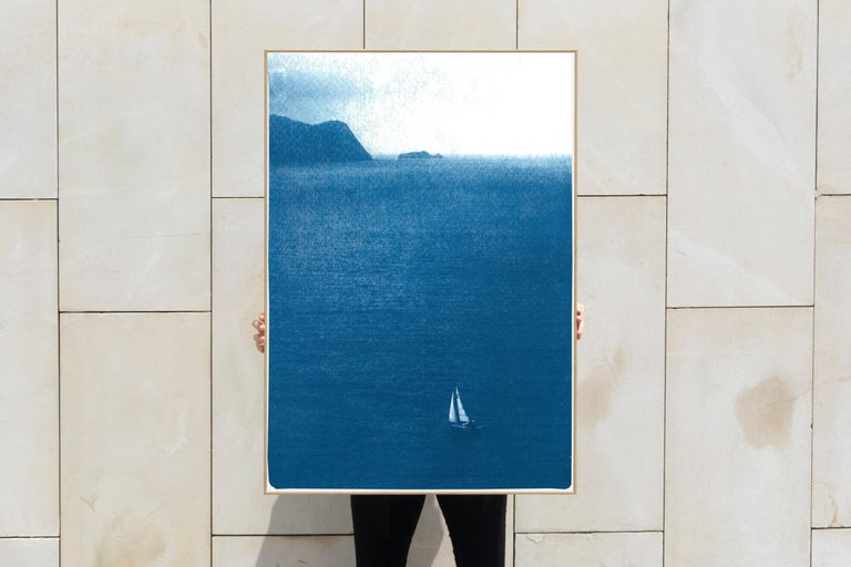 This is an exclusive handprinted limited edition cyanotype.