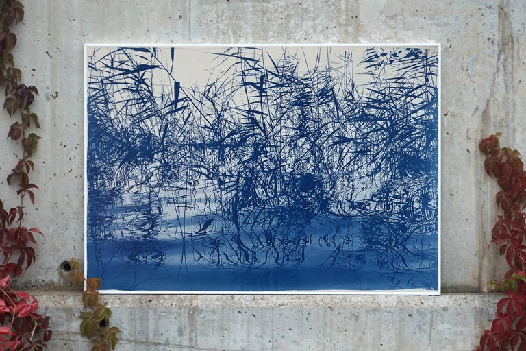 This is an exclusive handprinted limited edition cyanotype. Exquisite landscape of a