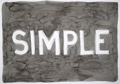Simple, Urban Style Word Art, Black Ink on Watercolor Paper, 100x70 cm, Type
