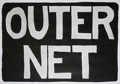 OuterNet, Internet Era Urban Style Painting, Hand Painted Chinese Black Ink