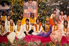 The Beatles in India Photograph by Paul Saltzman - Archival Color Fine Art Print