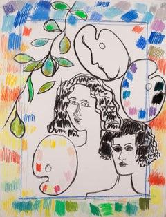 Heads Palette + Border, 1990