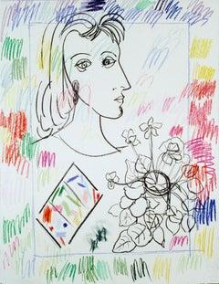 Profile Head with Color Box, 1988