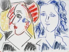 Clown and Head, 1987