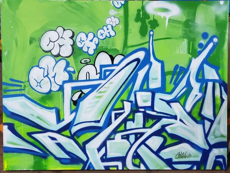Smoke Bubbles - Painting by Matt Odle (Chew)