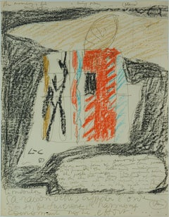 Modulor drawing and Modulor sketch, both unique –given away by Le Corbusier