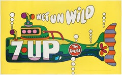 Seven-Up (7Up) – The UnCola  Wet un Wild; Original & Legendary American Poster