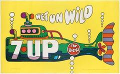 Seven-Up (7Up) –The UnCola  Wet un Wild; Original & Legendary American Poster