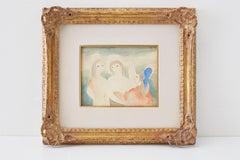 Marie Laurencin Three Women 20th Century Watercolor