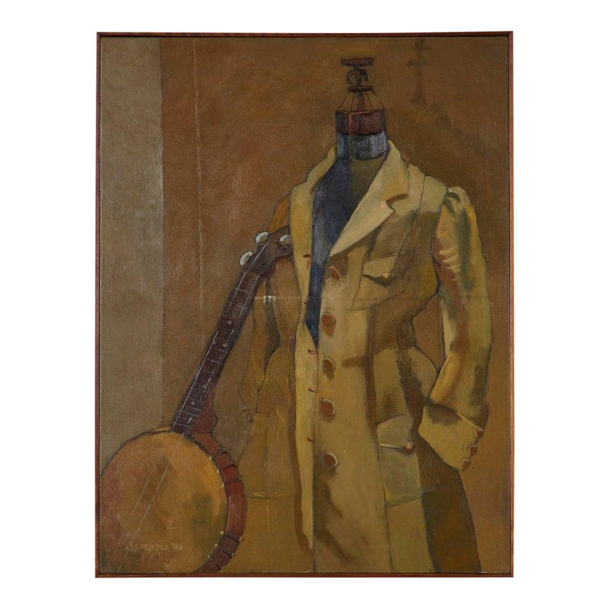 Banjo Player Still Life Painting