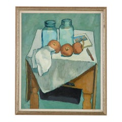 Bottles and Onions Still Life Painting