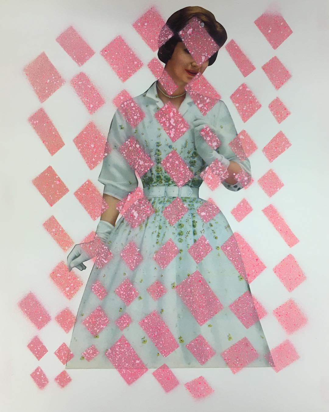 Pink and Blue   70 in x 47 in (Pink)
