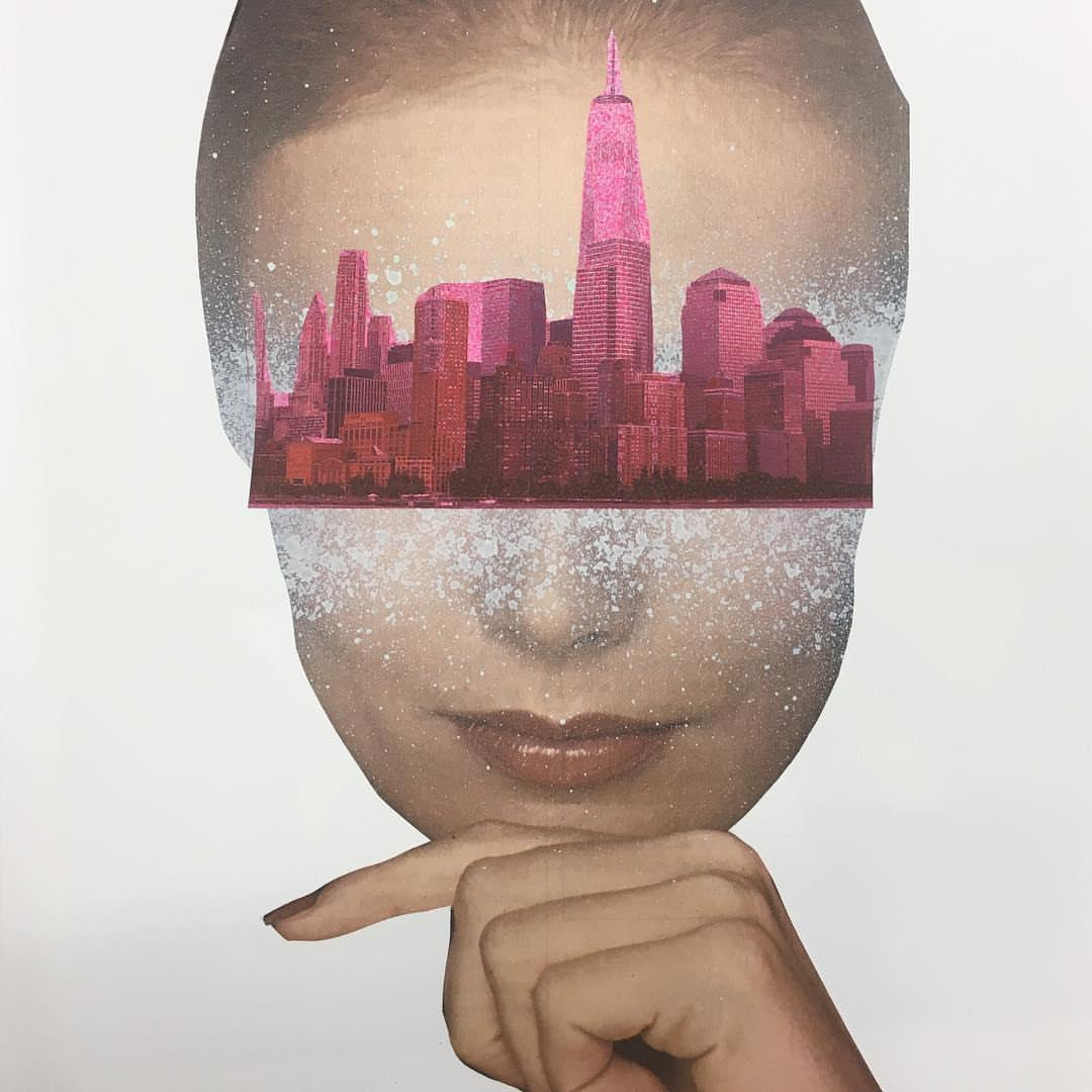 City Vision  70 in x 47 in (Pink)