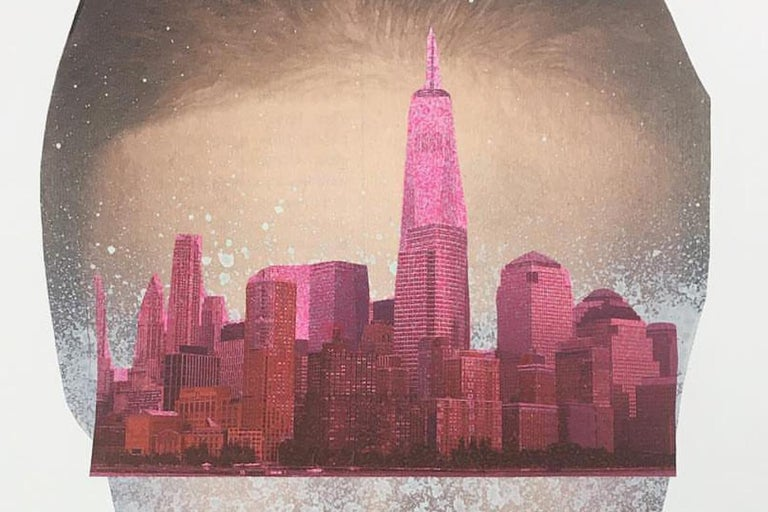 City Vision  70 in x 47 in (Pink) - Photograph by Carmen Figaredo
