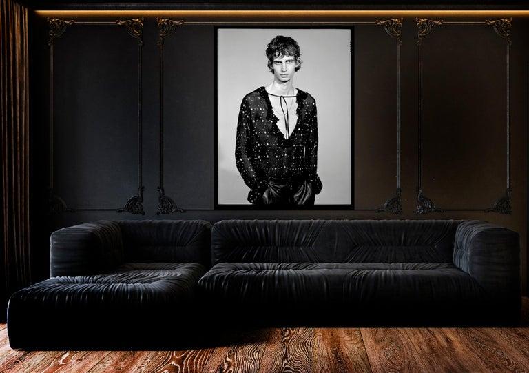 Nacho 6. 70 in x 47 in  (Black and White) (Fashion) - Gray Portrait Photograph by Nacho Pinedo