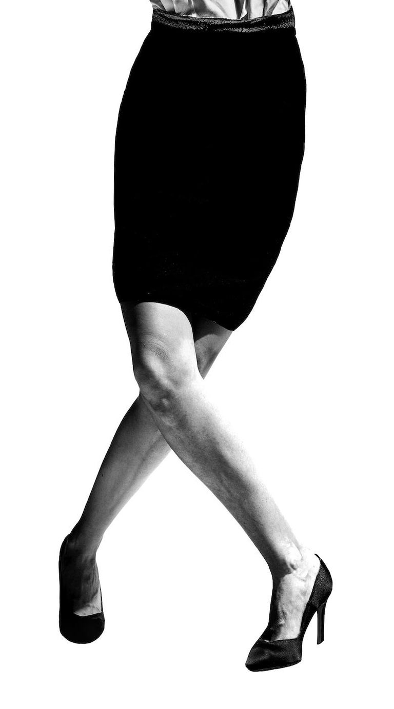 Tribute to Robert Longo, 1                      70 in x 47 in (Black and White) - Contemporary Photograph by Nacho Pinedo