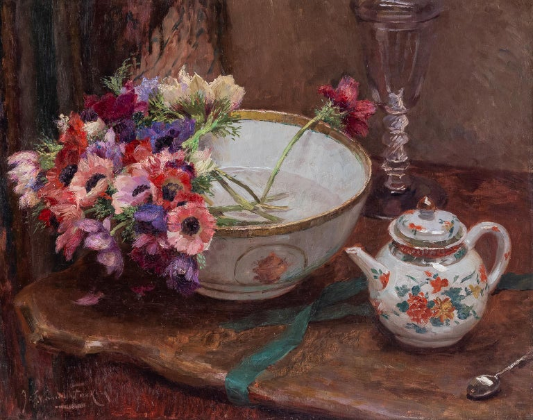 """van de FACKERE Jef Still-Life Painting - """"STILL LIFE WITH ANEMONES"""""""