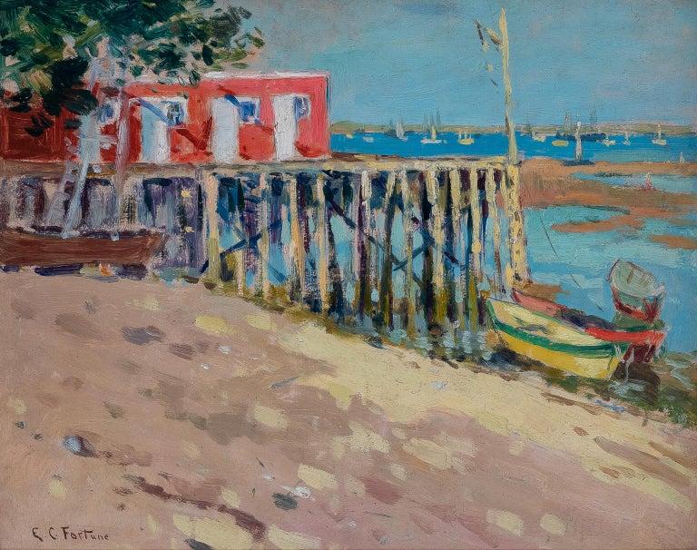 "FORTUNE Euphemia Charlton Landscape Painting - ""VIEW OF MONTEREY"""