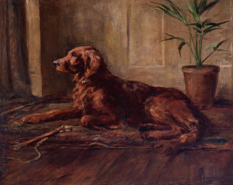 "ARMOUR George Denholm (Lt.-Col.) Animal Painting - ""PORTRAIT OF AN IRISH SETTER"""