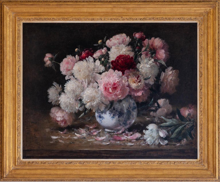 """BOUQUET OF PEONIES"" - Painting by JOORS Eugène"