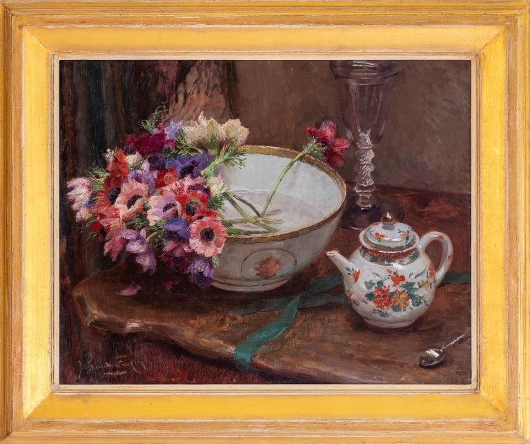 """""""STILL LIFE WITH ANEMONES"""" - Painting by van de FACKERE Jef"""
