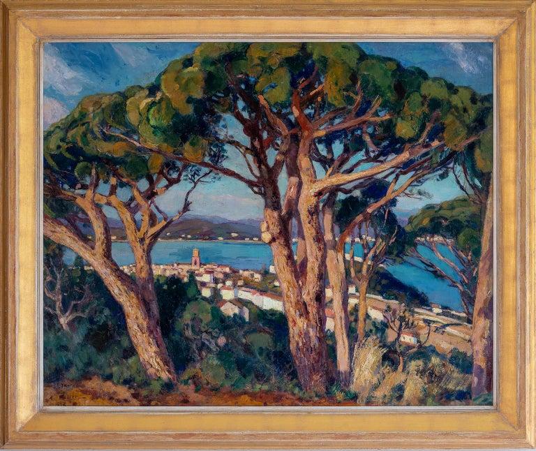 PINS PARASOLS A SAINT-TROPEZ - Painting by KELLER Adolphe
