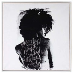 Contemporary Portrait Painting, modern art, To Write Graffiti on her Back