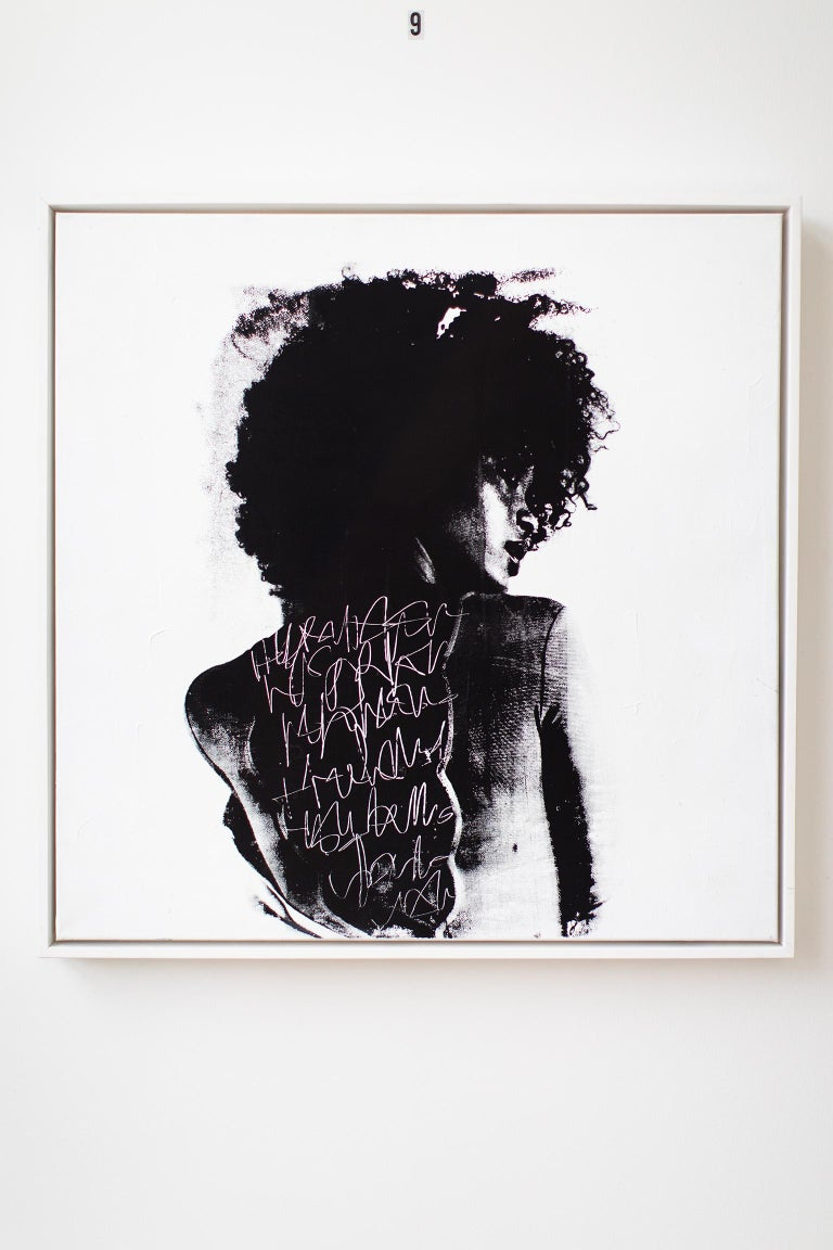 Contemporary Portrait Painting, modern art, To Write Graffiti on her Back For Sale 6
