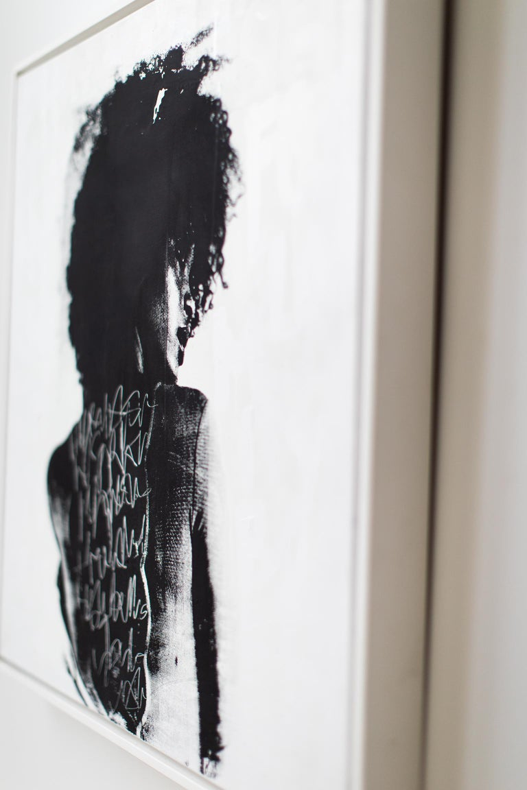 Contemporary Portrait Painting, modern art, To Write Graffiti on her Back For Sale 7