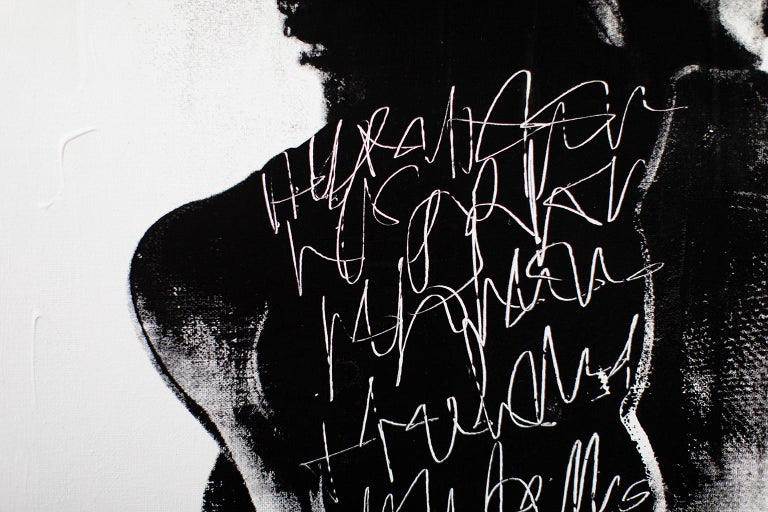 Contemporary Portrait Painting, modern art, To Write Graffiti on her Back For Sale 8