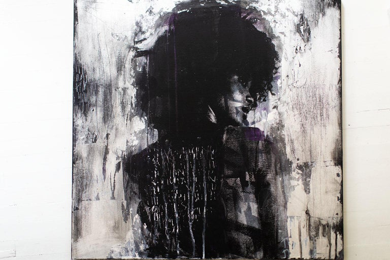 Contemporary Art Mixed Media Art : Shadow Girl, (Cortney-A4) For Sale 10
