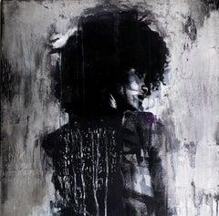 Contemporary Art Mixed Media Art : Shadow Girl, (Cortney-A4)