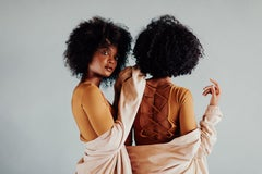 African American Portrait Photography: Double Curl (Cortney + Bethyie- 711)