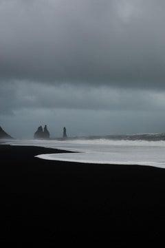 Beach Photography, Ocean Photography Black Sand  Photography : Monolith 816