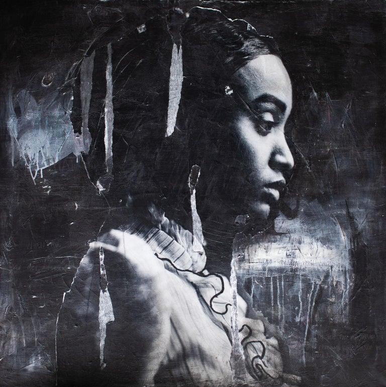 Addison Jones Portrait Photograph - Street Art Mixed Media : Era, You There?, (Bethyie- A12)