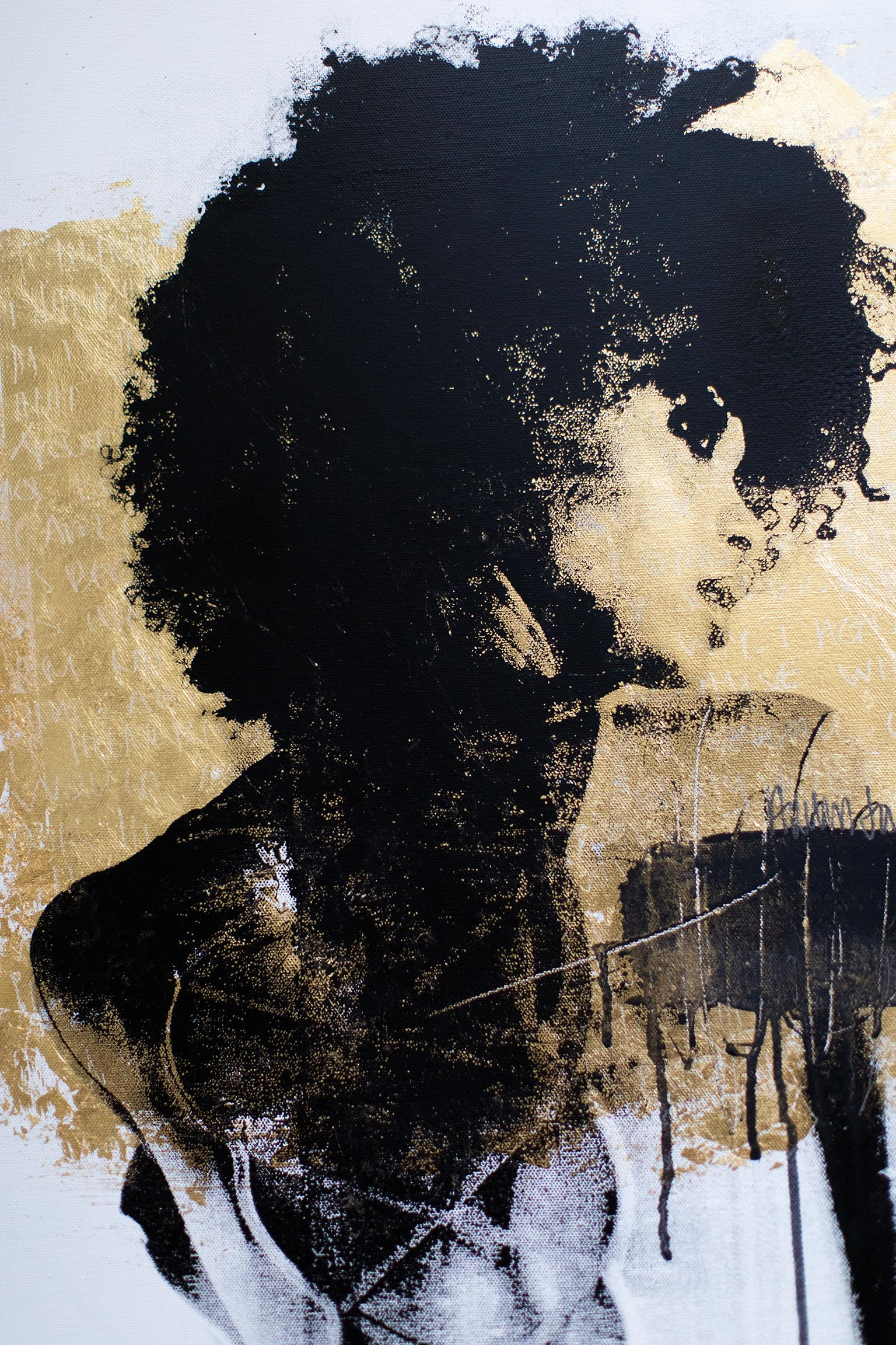 Modern Art Minimalist Art Street Art: Shoulder Drip in Trichrome (Cortney-A6)