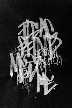 Abstract Painting, graffiti letters, Street Art, black contemporary art