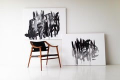 Abstract contemporary art, Black and white Abstract Art,