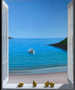 A Window to the Sea, oil painting by Renato Meziat