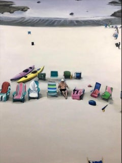The Gathering, original beach painting by Stephen Coyle