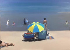 Receding Tide, original beach painting by Stephen Coyle