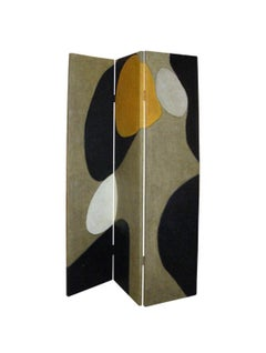 Dressing Screen (Paravent) by French Artist Marielle Guégan, Room Divider
