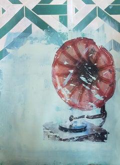 """Veronica Botticelli, Italian Artist , """"Tanto tempo perso"""" Mixed media on paper"""