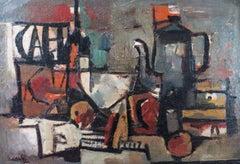 Still Life with Jug, Oil on Cardboard, ca 1950