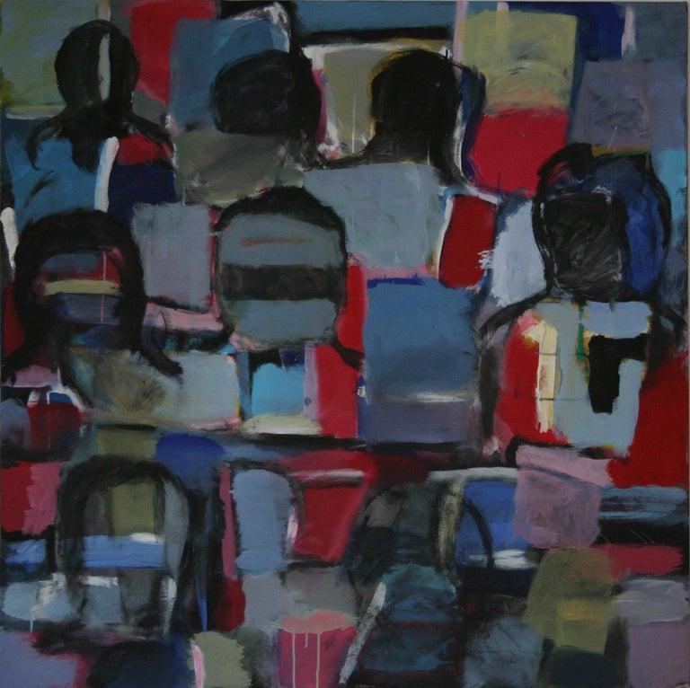 "Nathalie Fontenoy French Artist  Au Balcon "" at the Balcony"" - Painting by Nathalie Fontenoy"