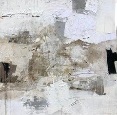 "Ines Hildur German Artist Painter "" Serie White"" Mixed Media on Canvas"