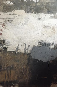 "Ines Hildur German Artist Painter "" Non-Color Augsburg"" Mixed Media on Canvas"